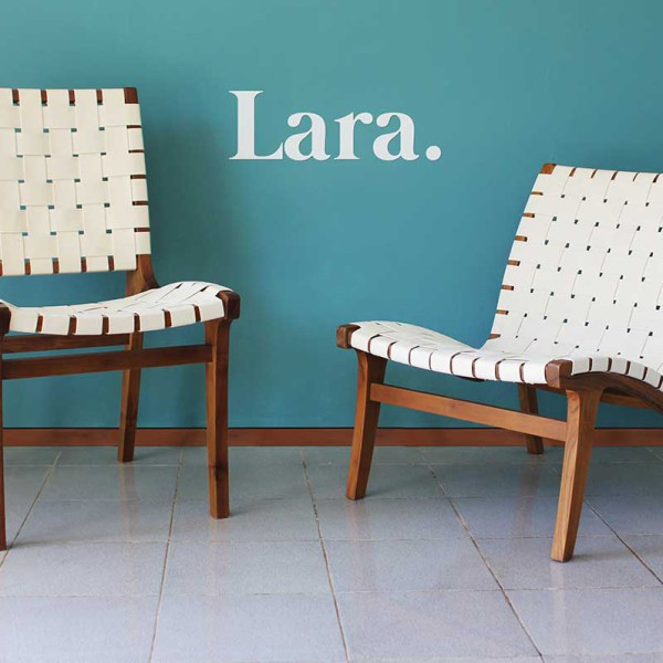 Lara Lounge Chair and Footstool