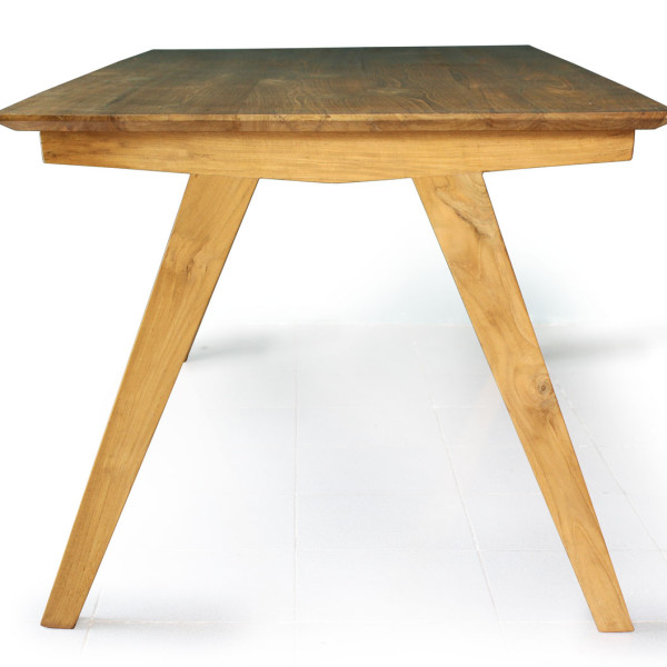 Abel Dining Table, Knockdown teak table