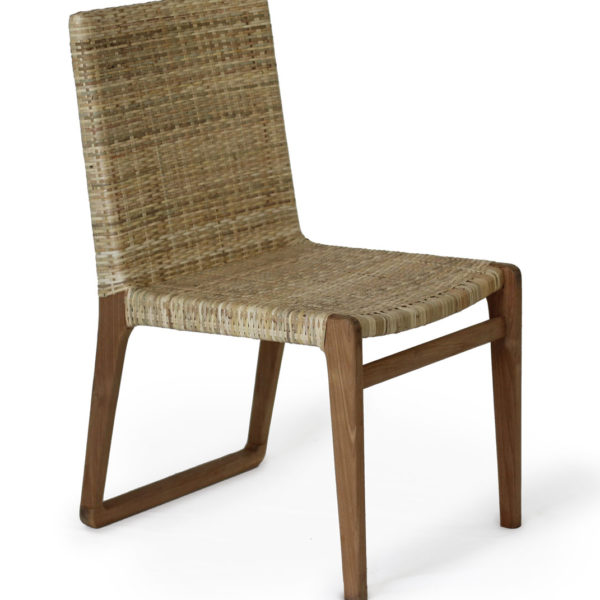 Onne Dining Chair in teak with natural rattan
